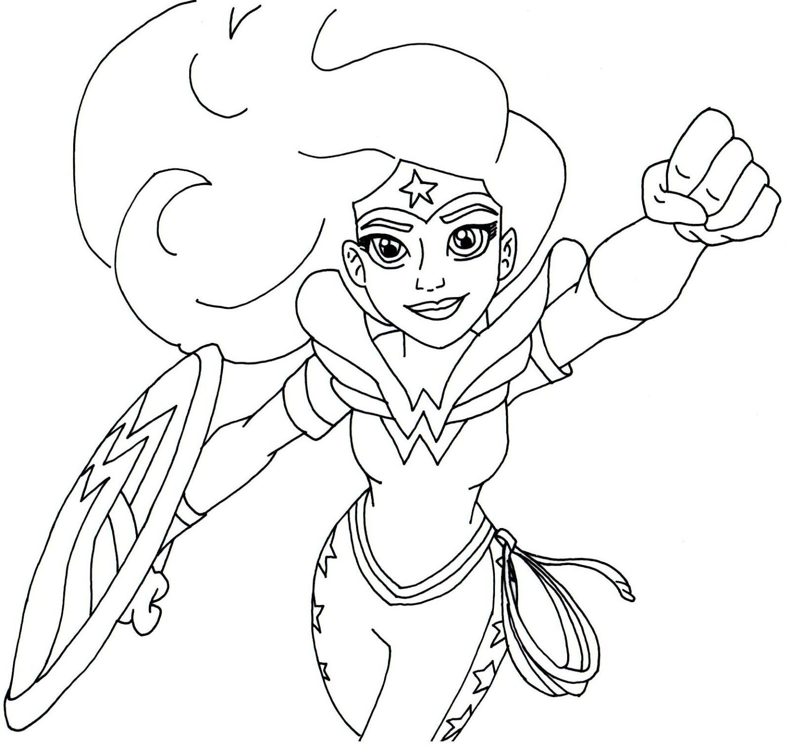 1600x1515 Free Printable Super Hero High Coloring Page For Wonder Woman More