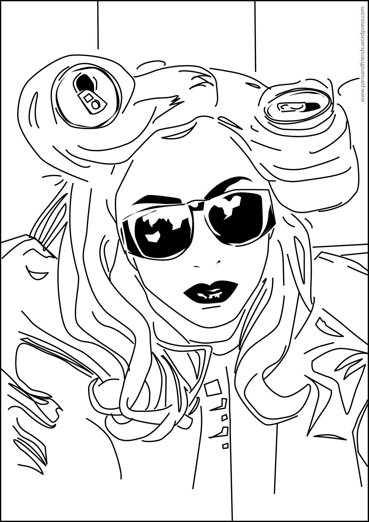 Lady Gaga Coloring Pages