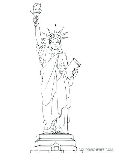 384x512 Statue Of Liberty Color Page Coloring Collection Landmarks Around