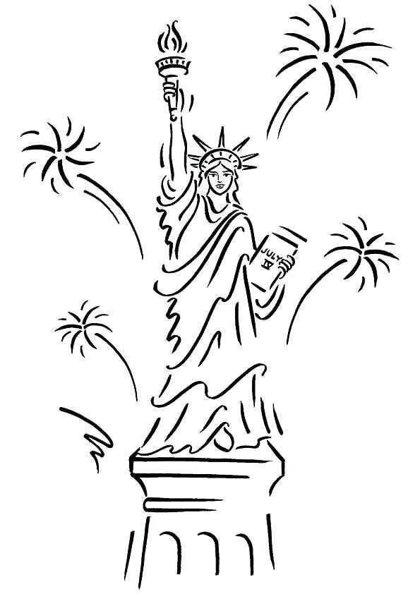 595x842 Statue Of Liberty Coloring Page Also Free Statue Of Liberty