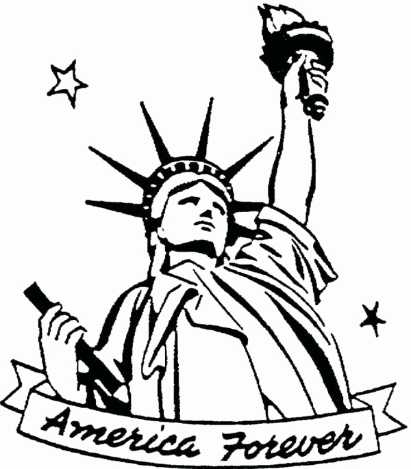 600x686 Statue Of Liberty Coloring Page Images Statue Liberty Coloring