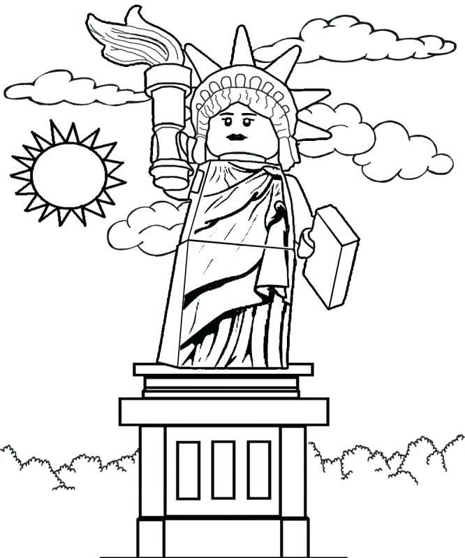 666x800 Statue Of Liberty Coloring Pages Statue Of Liberty Coloring Pages