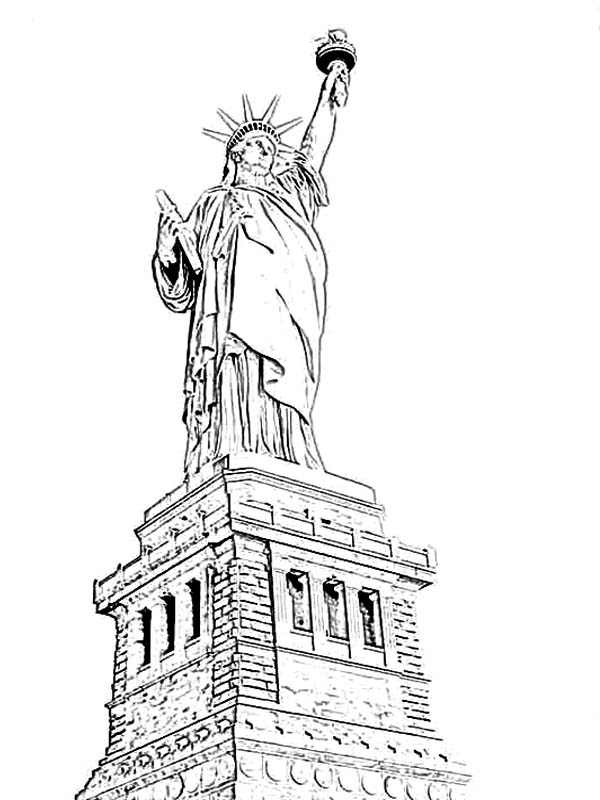 600x800 Amazing Statue Of Liberty Coloring Page