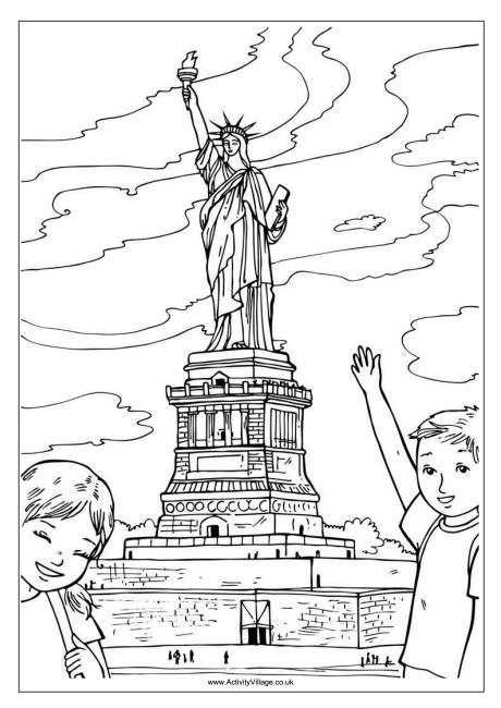 460x650 Statue Of Liberty Colouring Page