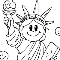 200x200 Statue Of Liberty Coloring Pages Surfnetkids