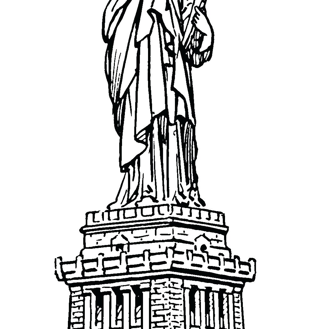 1013x1050 Coloring Pages Statue Of Liberty Coloring Page Realistic Pages