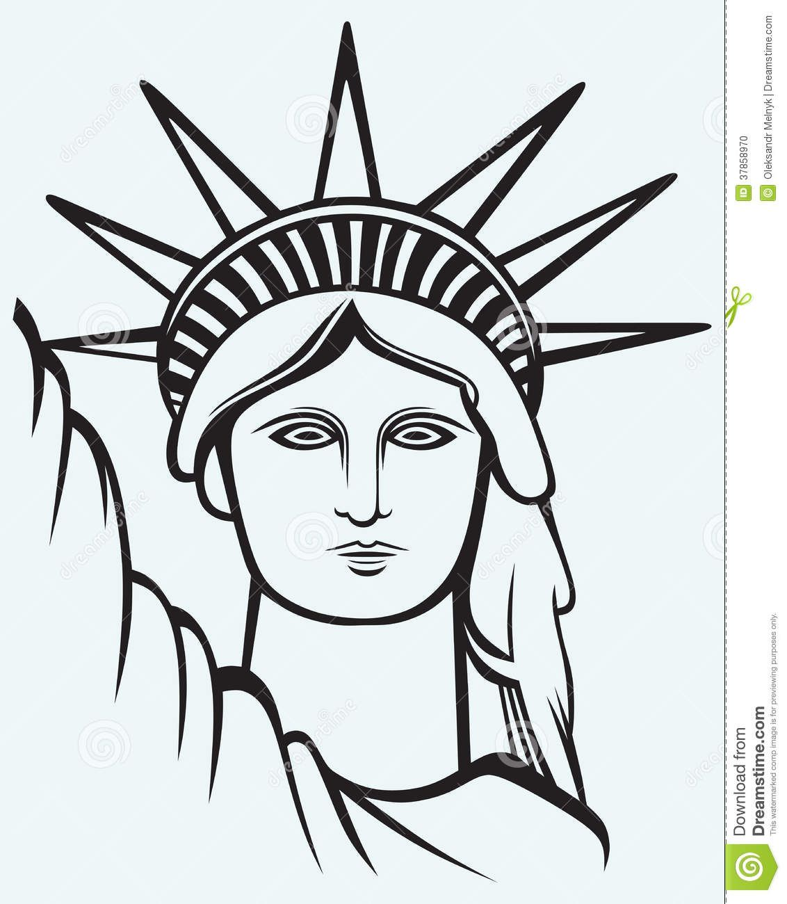 1132x1300 Image Result For How To Draw The Statue Of Liberty Cc Cycle