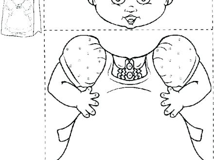 440x330 Old Lady Who Lived In A Shoe Coloring Page