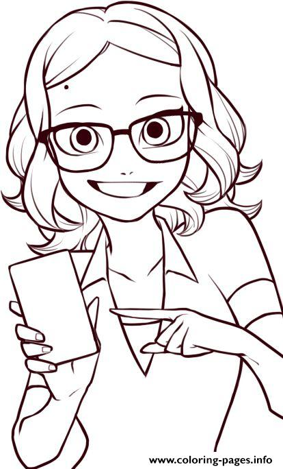 414x684 Miraculous Ladybug Coloring Pages Alya Cesaire Coloring Pages
