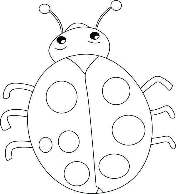 600x660 Bug Coloring Page Ladybugs Coloring Pages Lovely Lady Bug Coloring
