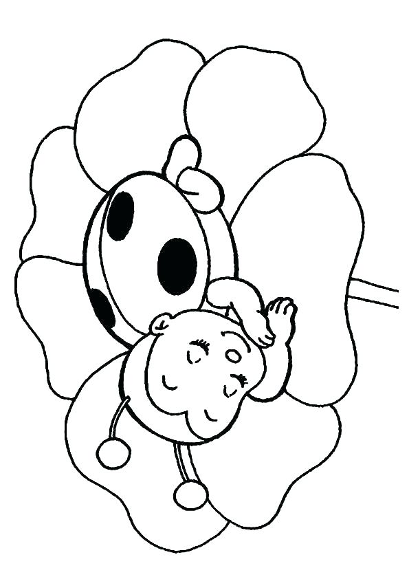 595x842 Bug Coloring Pages Coloring Pages A Small Bug Town Ladybug Girl