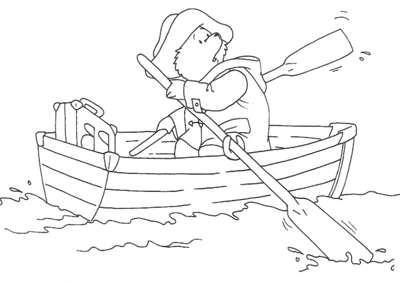 800x570 Paddington Bear Coloring Pages Bear Bear Paddling