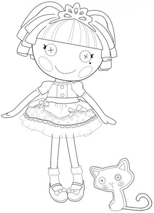 🎨 Lalaloopsy Doll Coloring Pages - Kizi Coloring Pages | 721x520