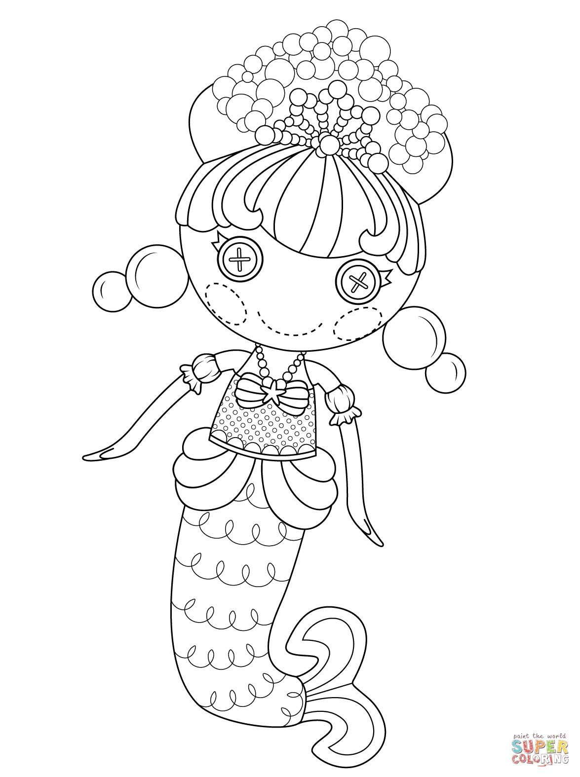 1175x1575 Lalaloopsy Coloring Pages New Lalaloopsy Bubbly Mermaid Coloring