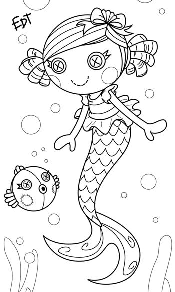 350x584 Imagens Para Colorir Lalaloopsy Lalaloopsy, Mermaid And Ph