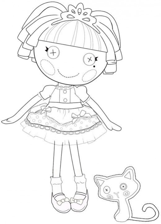 520x721 Printable Lalaloopsy Coloring Pages The Best Lalaloopsy Dolls