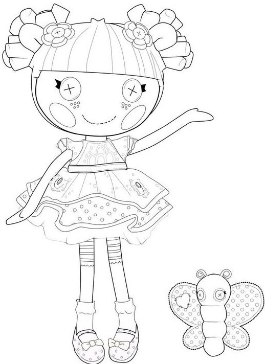 518x712 Lalaloopsy Blossom Flower Pot Coloring Page Printables For Kids