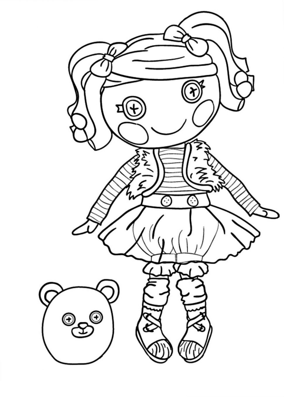 970x1358 Lalaloopsy Coloring Pages To Print For Girls Free L Prixducommerce