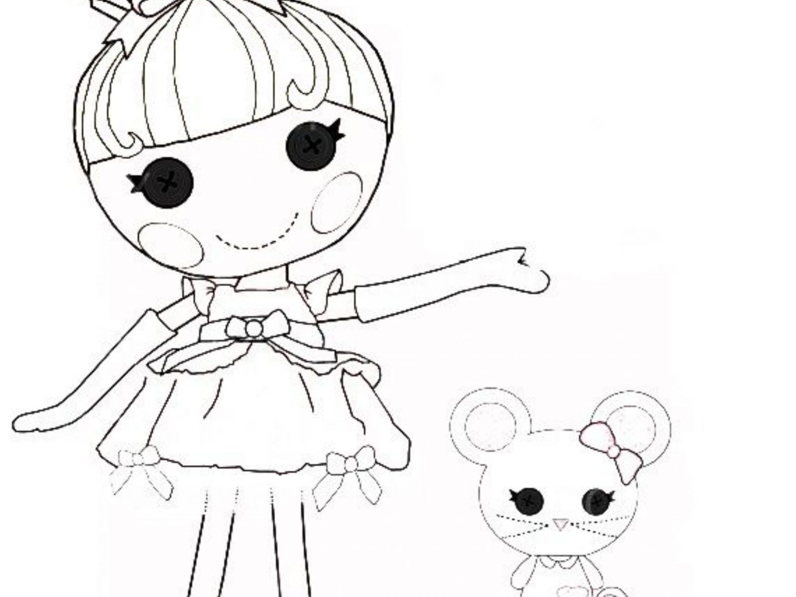 1600x1200 Lalaloopsy Cartoon Coloring Pages Free General Page For Kids