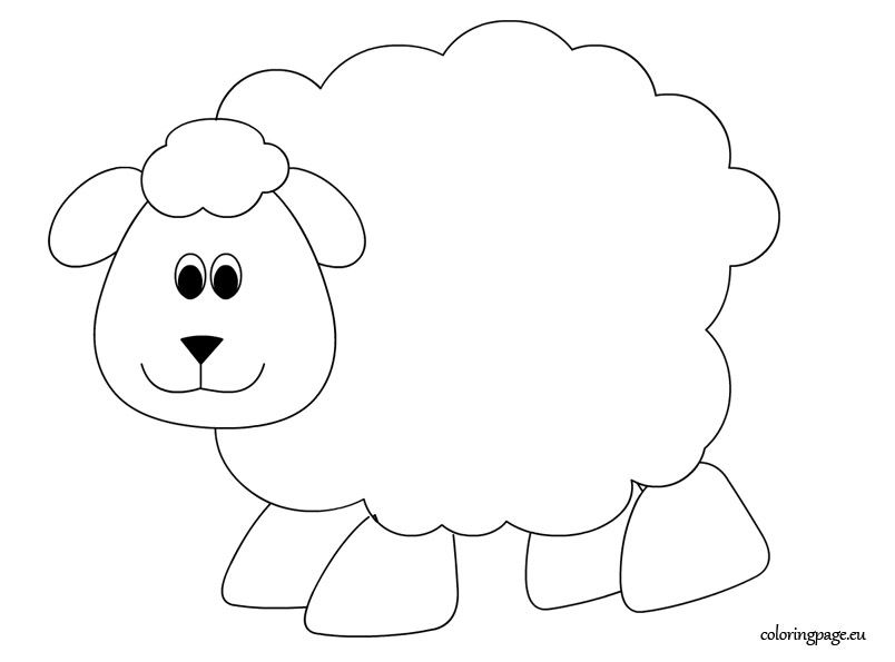 photograph about Free Printable Pictures of Sheep known as Lamb Coloring Website page at  Free of charge for particular person