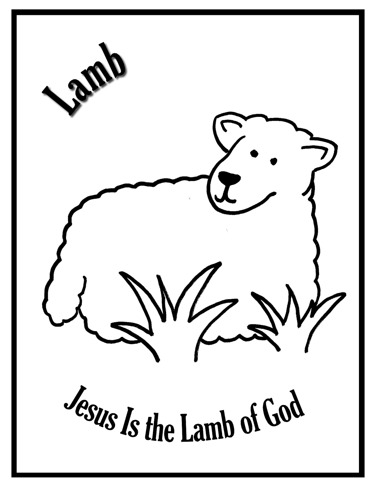 Lamb of god coloring page at getdrawings com free for personal use