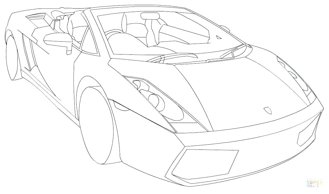 Lambo Coloring Pages at GetDrawings.com | Free for personal ...