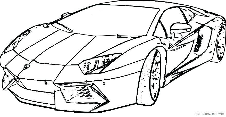 877x454 Lamborghini Gallardo Colouring Pages Coloring Front View