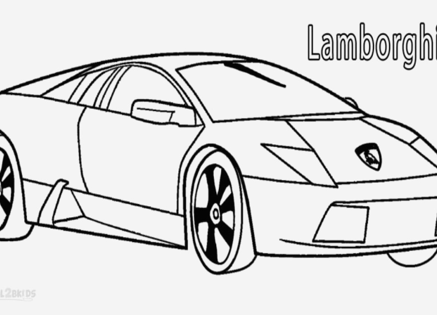 Lamborghini Veneno Coloring Pages