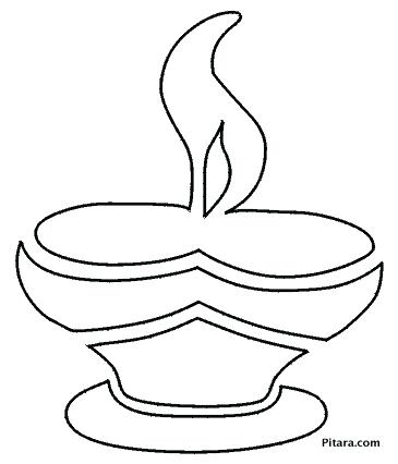 365x426 Diwali Coloring Pages For Kids Or Earthen Lamp Coloring Pages