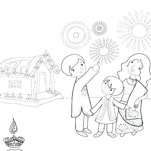 528x530 Diwali Coloring