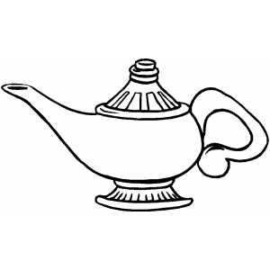 300x300 Genie Lamp Coloring Page