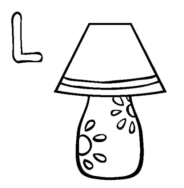 600x612 Lamp Is For Letter L Coloring Page Lamp Is For Letter L Coloring