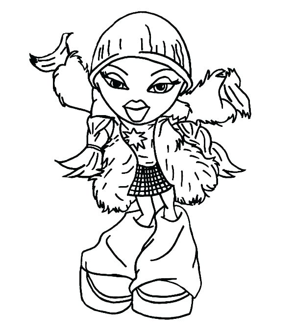 600x686 Bratz Doll Coloring Page Dolls Pages Picture Amazing