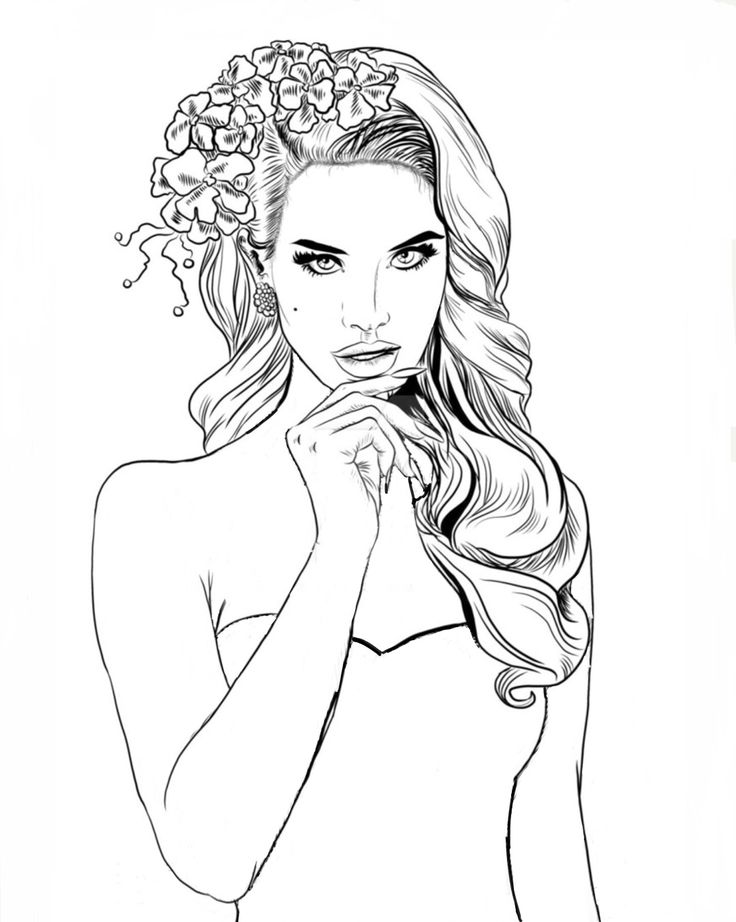 736x922 Best Women To Color Images On Coloring Pages