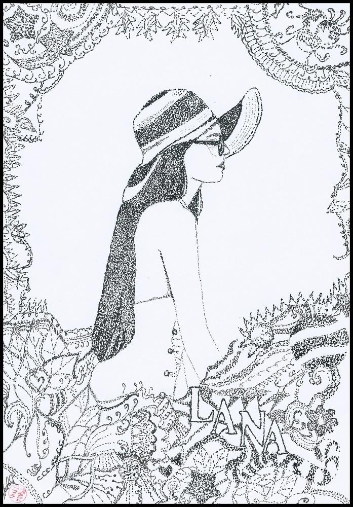 697x1000 Portrait Of Lana Del Rey