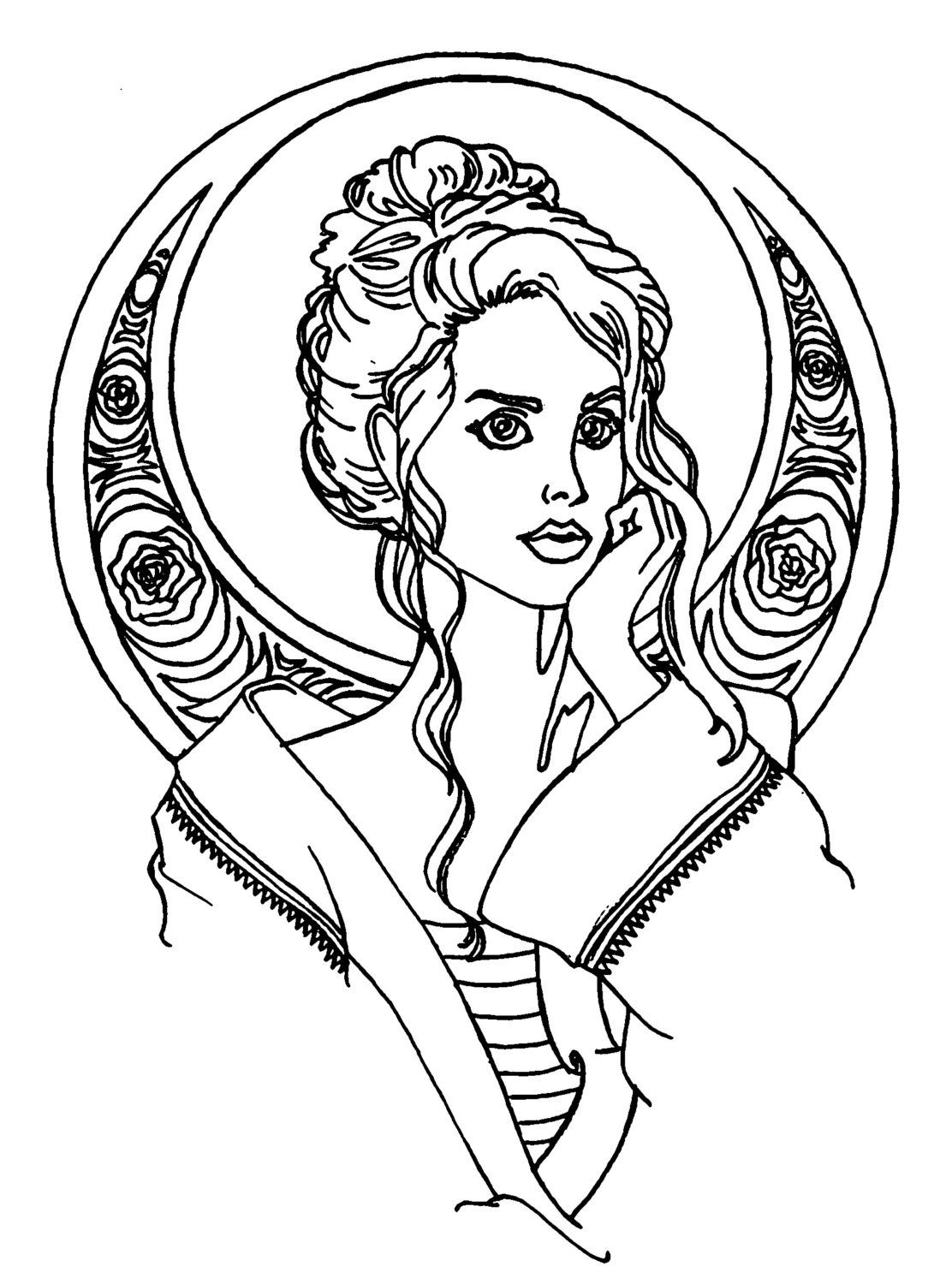 1112x1500 Sirens Of Song Adult Coloring Book Pages