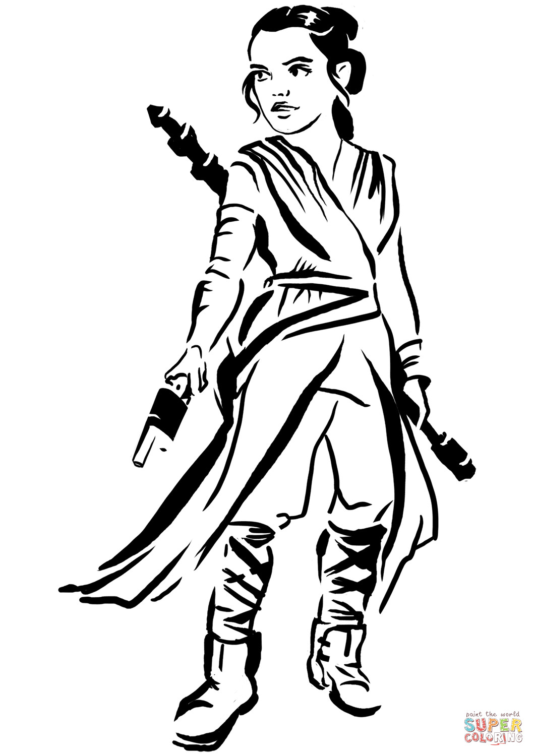 1059x1500 Star Wars Rey Coloring Pages Hellokids Com And Page Mosm