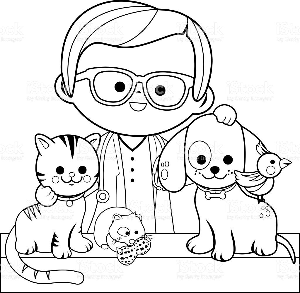1024x1001 Veterinarian Coloring Pages Printable Coloring For Kids