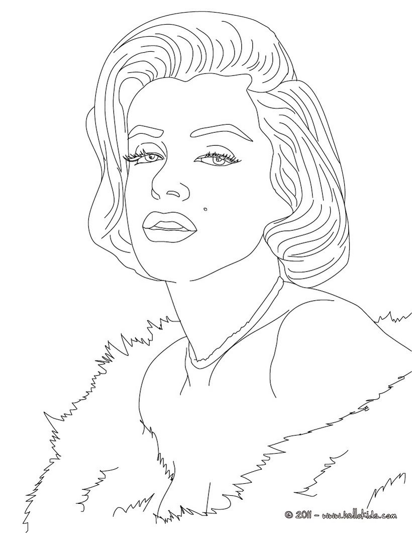 820x1060 Art Famou Page Coloring Book Marylin Monroe Coloring Page
