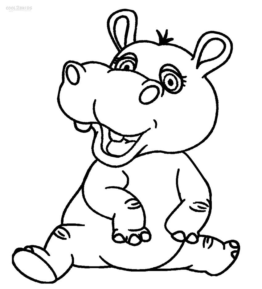 850x935 Awesome Coloring Pages Baby Hippo Face Collection Free Coloring