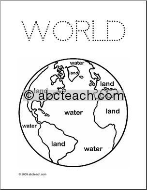 304x392 Land And Water Coloring Map Montessori Land, Air, Water