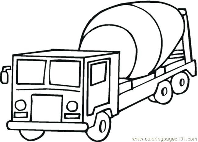 650x468 Transportation Coloring Pages Cement Mixer Coloring Page Coloring