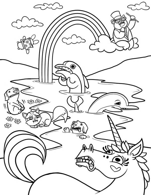 Land Animals Coloring Pages