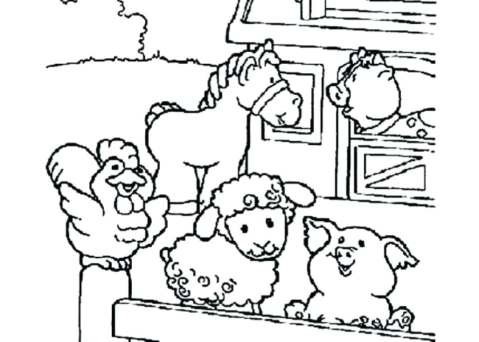 960x686 Land Animals Coloring Pages Farm Animal Drawings Land Animals