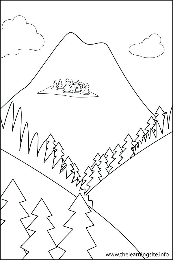 599x899 Landforms Coloring Pages Summer Beach Coloring Page Free Large