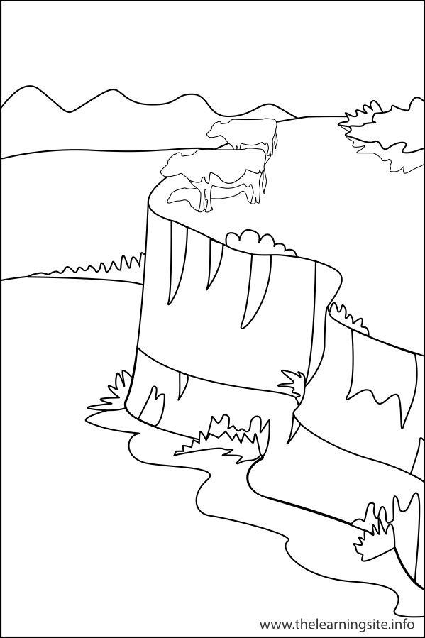 599x899 Plateau Landform Coloring Page Fun To Do Teaching