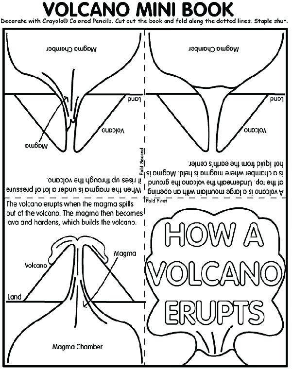 601x762 Marvelous Exciting Landform Coloring Pages Online Volcano Mini