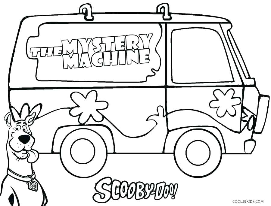900x686 Coloring Pages Free Printable Mystery Machine Coloring Coloring