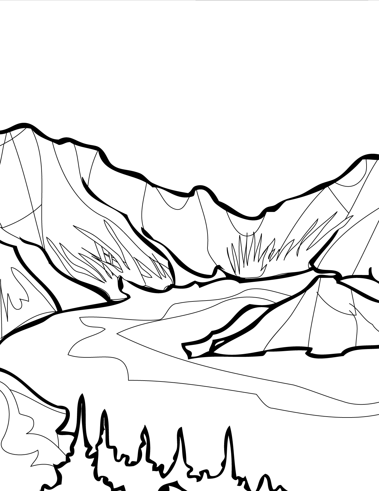 1275x1650 Crater Lake Coloring Page