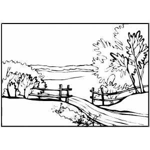 300x300 Landscapes Coloring Pages